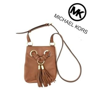 Michael Kors Travel Tassel Crossbody Bag Acorn